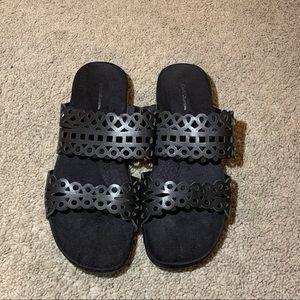 Black sandals, Size 8.5